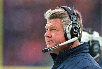14 Nov 1999: Head coach Jimmy Johnson of the Miami Dolphins watches from the sidelines during the game against the Buffalo Bills at the Ralph Wilson Stadium in Orchard Park, New York. The Bills defeated the Dolphins 23-3. Mandatory Credit: Rick Stewart  /
