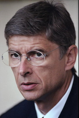 1997:  Portrait of Arsenal Manager Arsene Wenger. \ Mandatory Credit: Stu  Forster/Allsport