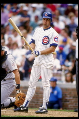 7 May 1993:  Second baseman Ryne Sandberg of the Chicago Cubs stands on the field during a game against the San Diego Padres at Wrigley Field in Chicago, Illinois.  Mandatory Credit: Jonathan Daniel  /Allsport