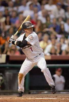 HOUSTON - SEPTEMBER 19: Craig Biggio #7 of the Houston Astros stands at bat during the game against the Cincinnati Reds September 19, 2006 at Minute Maid Park in Houston, Texas. (Photo by Ronald Martinez/Getty Images)