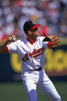 14 Apr 2000: Omar Vizquel #13 of the Cleveland Indians throws the ball during the game against the Texas Rangers at Jacobs Field in Cleveland, Ohio. The Rangers defeated the Indians 7-2.