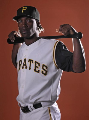 BRADENTON, FL - FEBRUARY 24:  Outfielder Andrew McCutchen of the Pittsburgh Pirates poses for photos during spring training media day on February 24, 2008 at Pirate City in Bradenton, Florida.  (Photo by Marc Serota/Getty Images)