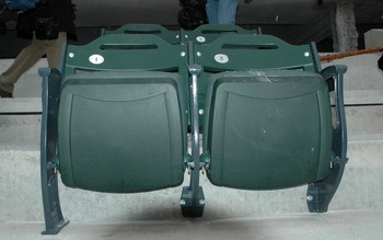 FLUSHING, NY - FEBRUARY 12:  A pair of stadium seats are shown at Citi Field, new home of the New York Mets scheduled to open for the 2009 season, February 12, 2008 in Flushing, New York.  (Photo by Andy Marlin/Getty Images)