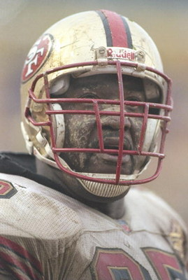 4 Jan 1997:  Guard Ray Brown of the San Francisco 49ers stands on the field during a playoff game against the Green Bay Packers at Lambeau Field in Green Bay, Wisconsin.  The Packers won the game 35-14. Mandatory Credit: Jonathan Daniel  /Allsport