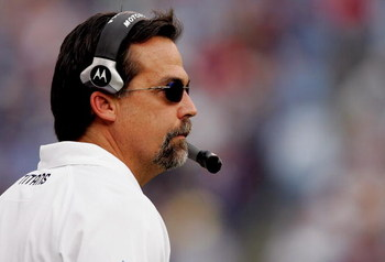 NASHVILLE, TN - DECEMBER 9:  Head coach Jeff Fisher of the Tennessee Titans on the sideline against the San Diego Chargers at LP Field December 9, 2007 in Nashville, Tennessee.  (Photo by Matthew Stockman/Getty Images)