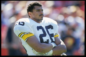21 Oct 1990: Defensive back Rod Woodson of the Pittsburgh Steelers during the Steelers 27-7 loss to the San Francisco 49ers at Candlestick Park in San Francisco, California.