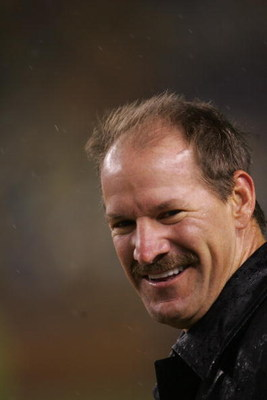 PITTSBURGH - NOVEMBER 5:  Bill Cowher stands on the field before the Baltimore Ravens game against the Pittsburgh Steelers on November 5, 2007 at Heinz Field in Pittsburgh, Pennsylvania. (Photo by Chris McGrath/Getty Images)