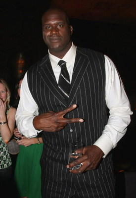 NEW YORK - JULY 14:  Basketball Player Shaquille O'Neal #32 of the Phoenix Suns attends the Getty Images and Johnnie Walker party during the 2008 MLB All-Star Week at Tao on July 14, 2008 in New York City.  (Photo by Andrew H. Walker/Getty Images)