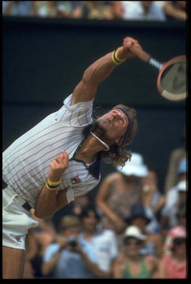 JUN 1980:  A PICTURE SHOWING BJORN BORG OF SWEDEN IN ACTION DURING THE FRENCH TENNIS OPEN Mandatory Credit: Allsport UK/ALLSPORT