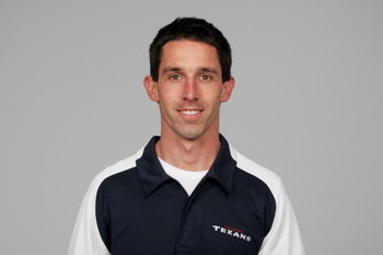 HOUSTON - 2008:  Kyle Shanahan of the Houston Texans poses for his 2008 NFL headshot at photo day in Houston, Texas.  (Photo by Getty Images)
