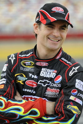CONCORD, NC - MAY 15:  Jeff Gordon driver of the #24 DuPont Chevrolet stands on pit road during qualifying for the NASCAR Sprint All-Star Race on May 15, 2009 at Lowe's Motor Speedway in Concord, North Carolina.  (Photo by John Harrelson/Getty Images)
