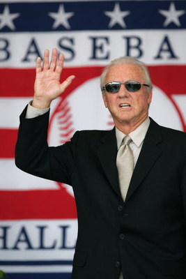 COOPERSTOWN, NY - JULY 31: Hall of Famer Al Kaline attends the Baseball Hall of Fame Induction ceremony on July 31, 2005 at the Clark Sports Complex in Cooperstown, New York.  (Photo by Ezra Shaw/Getty Images)