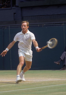 Australian tennis player Rod Laver, circa 1975. (Photo by Don Morley/Getty Images)