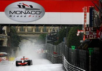 MONTE CARLO, MONACO - MAY 25:  Lewis Hamilton of Great Britain and McLaren Mercedes drives on his way to victory in the Monaco Formula One Grand Prix at the Monte Carlo Circuit on May 25, 2008 in Monte Carlo, Monaco.  (Photo by Clive Mason/Getty Images)