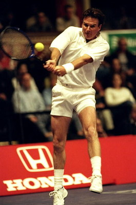 2 Dec 1999:  Jimmy Connors of the USA in action during the ATP Seniors Honda Challenge held at the Royal Albert Hall in London, England.  \ Mandatory Credit: Tom Shaw /Allsport