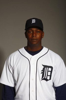LAKELAND, FL - FEBRUARY 23:  Edgar Renteria of the Detroit Tigers poses for a portrait during Photo Day on February 23, 2008 at Joker Marchant Stadium in Lakeland, Florida. (Photo by: Nick Laham/Getty Images)