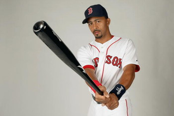 FORT MYERS,FLORIDA - FEBRUARY 22:  Julio Lugo #23 of the Boston Red Sox poses during photo day at the Red Sox spring training complex on February 22, 2009 in Fort Myers, Florida. (Photo by: Nick Laham/Getty Images)