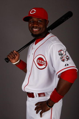 SARASOTA, FL - FEBRUARY 18:  Brandon Phillips #4 of the Cincinnati Reds poses for a photo during Spring Training Photo day on February 18, 2009 at the Cincinnati Reds training facility in Sarasota, Florida.  (Photo by Chris Graythen/Getty Images)