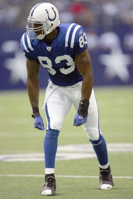 IRVING, TX - AUGUST 9: Roy Hall #83of the Indianapolis Colts readies to move at the hike during the preseason game against the Dallas Cowboys at Texas Stadium on August 9, 2007 in Irving, Texas. (Photo by Ronald Martinez/Getty Images)