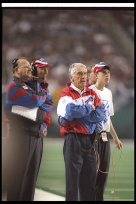 30 Jan 1994:  Buffalo Bills head coach Marv Levy looks on during Super Bowl XXVIII against the Dallas Cowboys at the Georgia Dome in Atlanta, Georgia.  The Cowboys won the game, 30-13. Mandatory Credit: Rick Stewart  /Allsport