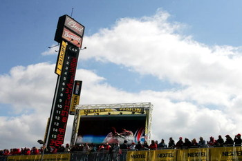 DAYTONA, FL - FEBRUARY 18:  Fans look on prior to the start of the NASCAR Nextel Cup Series Daytona 500 at Daytona International Speedway on February 18, 2007 in Daytona, Florida.  (Photo by Jonathan Ferrey/Getty Images for NASCAR)