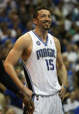 ORLANDO, FL - MAY 30:  Hedo Turkoglu #15 of the Orlando Magic looks on late in the game against the Cleveland Cavaliers in Game Six of the Eastern Conference Finals during the 2009 Playoffs at Amway Arena on May 30, 2009 in Orlando, Florida. NOTE TO USER: