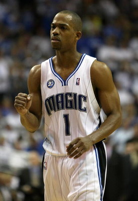 ORLANDO, FL - MAY 30: Rafer Alston #1 of the Orlando Magic pumps his fist late in the game against the Cleveland Cavaliers in Game Six of the Eastern Conference Finals during the 2009 Playoffs at Amway Arena on May 30, 2009 in Orlando, Florida. NOTE TO US