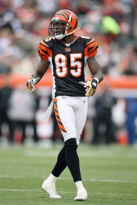 CINCINNATI - DECEMBER 14:  Chad Johnson #85 of the Cincinnati Bengals moves on the field during the NFL game against the Washington Redskins on December 14, 2008 at Paul Brown Stadium in Cincinnati, Ohio. The Bengals won 20-13. (Photo by Andy Lyons/Getty