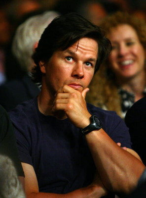 LAS VEGAS - MAY 02:  Actor Mark Wahlberg looks on during the Humberto Soto of Mexico and Benoit Gaudet of Canada super featherweight title fight at the MGM Grand Garden Arena May 2, 2009 in Las Vegas, Nevada.  (Photo by Al Bello/Getty Images)