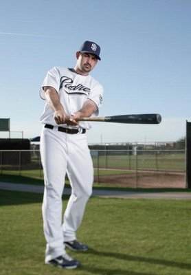 PEORIA, AZ - FEBRUARY 24:  Adrian Gonzalez #23 of the San Diego Padres poses during photo day at Peoria Stadium on February 24, 2009 in Peoria, Arizona. (Photo by Donald Miralle/Getty Images)