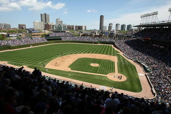 CHICAGO - MAY 16: A general view of Wrigley Field as the Chicago Cubs take on the Houston Astros on May 16, 2009 in Chicago, Illinois. The Cubs defeated the Astros 5-4. (Photo by Jonathan Daniel/Getty Images)