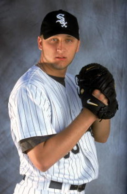 24 Feb 2001:  Mark Buehrle of the Chicago White Sox poses for a studio portrait during Spring Training at Tucson Electric Park in Tucson, Arizona.Mandatory Credit: Brian Bahr  /Allsport