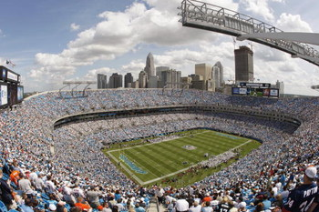 CHARLOTTE, NC - SEPTEMBER 14:  General view of the interior of Bank of America Stadium during the game between the Chicago Bears and the Carolina Panthers on September 14, 2008 in Charlotte, North Carolina.  (Photo by Streeter Lecka/Getty Images)