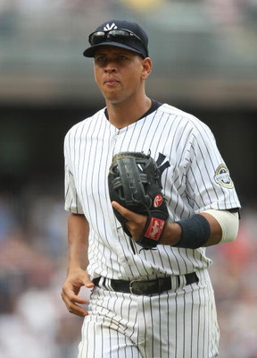NEW YORK - MAY 24:  Alex Rodriguez #13 of the New York Yankees stands in the field against the Philadelphia Phillies on May 24, 2009 at Yankee Stadium in the Bronx borough of New York City.  (Photo by Nick Laham/Getty Images)