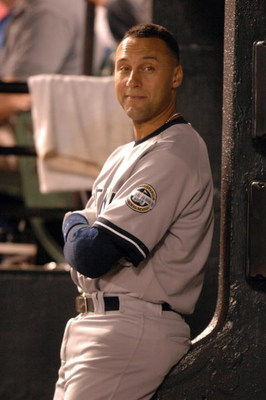 BALTIMORE, MD - MAY 8:  Derek Jeter #13 of the New York Yankees looks on against the Baltimore Orioles on May 8, 2009 at Camden Yards in Baltimore, Maryland.  (Photo by Mitchell Layton/Getty Images)