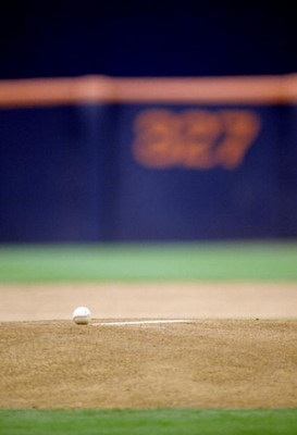 26 May 1994:  A baseball sits on the pitcher''s mound in between innings during the San Francisco Giants versus San Diego Padres at Jack Murphy Stadium in San Diego, California. Mandatory Credit: J.D. Cuban/ALLSPORT