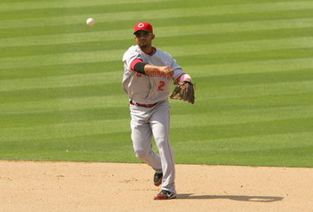 LOS ANGELES - MAY 13: Alex Gonzalez #2 of the Cincinnati Reds throws the ball to firstbase during the Mothers Day game against the Los Angeles Dodgers at Dodger Stadium on May 13, 2007 in Los Angeles, California. The Dodgers won 10-5. (Photo by Stephen Du