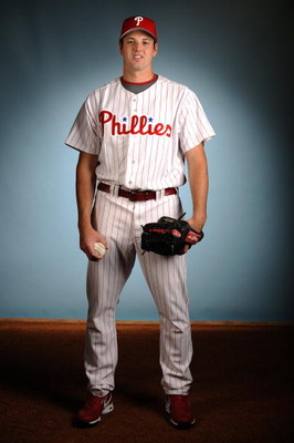 CLEARWATER, FL - FEBRUARY 21:  Scott Mathieson of the Philadelphia Phillies poses for a portrait during the spring training photo day on February 21, 2008 at Bright House Field in Clearwater, Florida.  (Photo by Robert Laberge/Getty Images)