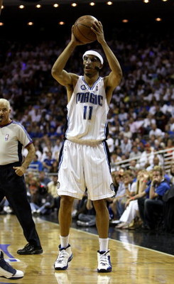 ORLANDO, FL - MAY 30:  Courtney Lee #11 of the Orlando Magic handles the ball against the Cleveland Cavaliers in Game Six of the Eastern Conference Finals during the 2009 Playoffs at Amway Arena on May 30, 2009 in Orlando, Florida. NOTE TO USER: User expr