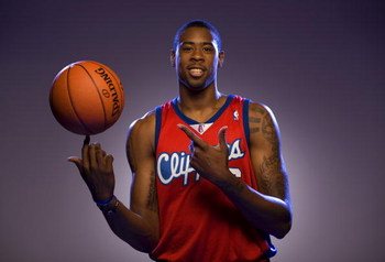 TARRYTOWN, NY - JULY 29:  DeAndre Jordan of the Los Angeles Clippers poses for a portrait during the 2008 NBA Rookie Photo Shoot on July 29, 2008 at the MSG Training Facility in Tarrytown, New York.  NOTE TO USER: User expressly acknowledges and agrees th