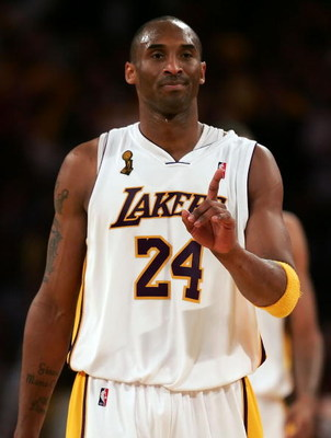 LOS ANGELES, CA - JUNE 07:  Kobe Bryant #24 of the Los Angeles Lakers reacts after defeating the Orlando Magic 101-96 in overtime in Game Two of the 2009 NBA Finals at Staples Center on June 7, 2009 in Los Angeles, California. NOTE TO USER: User expressly