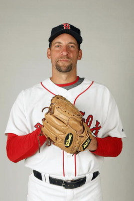 FORT MYERS,FLORIDA - FEBRUARY 22: John Smoltz #29 of the Boston Red Sox poses during photo day at the Red Sox spring training complex on February 22, 2009 in Fort Myers, Florida. (Photo by: Nick Laham/Getty Images)