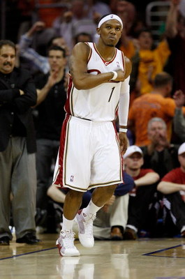 CLEVELAND - MAY 28:  Daniel Gibson #1 of the Cleveland Cavaliers reacts after making a three point basket against the Orlando Magic in Game Five of the Eastern Conference Finals during the 2009 Playoffs at Quicken Loans Arena on May 28, 2009 in Cleveland,
