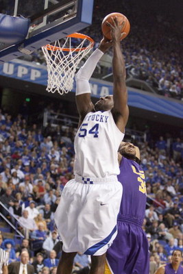 LEXINGTON, KY - FEBRUARY 28:  Patrick Patterson #54 of the Kentucky Wildcats puts a shot up during the SEC game against the LSU Tigers at Rupp Arena on February 28, 2009 in Lexington, Kentucky.  (Photo by Andy Lyons/Getty Images)