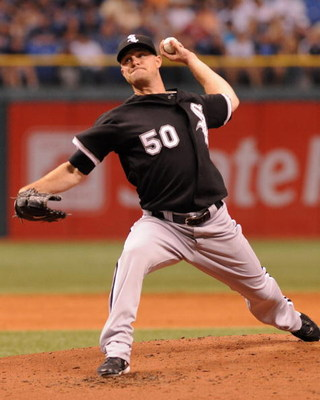 ST. PETERSBURG, FL - APRIL 16:  Pitcher John Danks #50 of the Chicago White Sox starts against the Tampa Bay Rays April 16, 2009 at Tropicana Field in St. Petersburg, Florida.  (Photo by Al Messerschmidt/Getty Images)