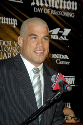 NEW YORK - JANUARY 20: Mixed martial arts fighter Tito Ortiz attends the 'Day of Reckoning' press conference at Trump Tower January 20, 2009 in New York City.  (Photo by Joe Corrigan/Getty Images)