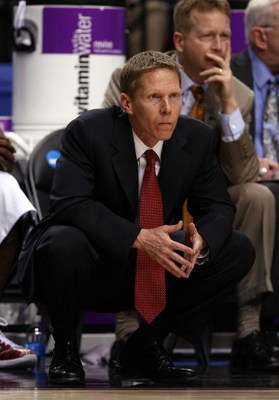 PORTLAND, OR - MARCH 19:  Head coach Mark Few of the Gonzaga Bulldogs looks on while taking on the Akron Zips in the second half during the first round of the NCAA Division I Men's Basketball Tournament at the Rose Garden on March 19, 2009 in Portland, Or