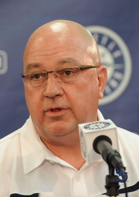 General manager Jack Zduriencik of the Seattle Mariners during a press conference  on February 21, 2009 in Peoria, Arizona.