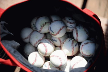 FORT LAUDERDALE, FL - FEBRUARY 26: A detail view of a baseballs in a bag before a spring training game between the St. Louis Cardinals and the Baltimore Orioles at Fort Lauderdale Stadium on February 26, 2009 in Fort Lauderdale, Florida. (Photo by Rob Tri