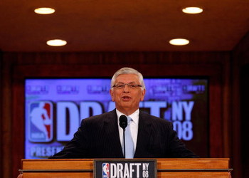 NEW YORK - JUNE 26: NBA Commissioner David Stern speaks during the 2008 NBA Draft at the Wamu Theatre at Madison Square Garden June 26, 2008 in New York City. NOTE TO USER: User expressly acknowledges and agrees that, by downloading and or using this phot